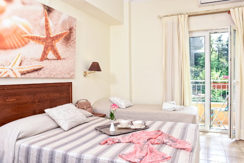 Single type room in Corfu hotel Telesilla
